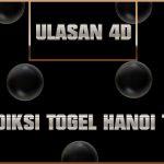 Prediksi Togel Hanoi Toto